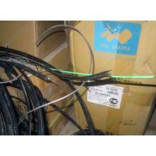 Оптический кабель Б/У для внешней прокладки (с металлическим тросом) в Братске, оптокабель БУ (Братск)